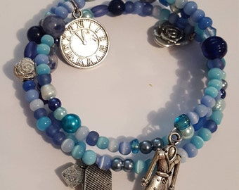 Doctor Who Memory Wire charm bracelet