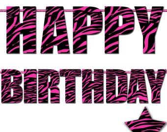 Printable Ladybug Happy Birthday Banner 1st Birthday Banner
