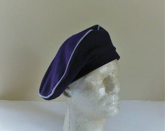 Wool Beret, Rothschild Beret, Rothschild Wool Hat, Navy Blue Wool Beret, Vintage Beret, Made in Guatemala, Size 8, Free Shipping