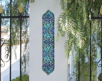 Outdoor wall art SET OF 6 TILES, Moroccan tiles to decorate a column, Moroccan tile, Moroccan decor, Ceramic tile, 8cm/3.14 inches, Moroccan