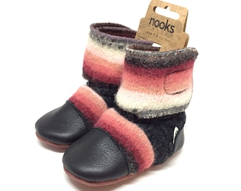"Nooks Design toddler booties, US Size 5.5 / 12-18m / 5"" length"