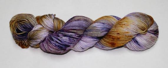 Ready to Ship - Sugar Plum Fairy Hand Dyed Sock Yarn - Soft Sock