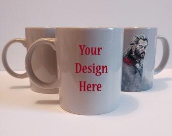 Custom Mug, Hand Painted, Gift, Birthday, Personalised, Christmas, Wedding, Bridesmaids, Flowers, Patterns, Message