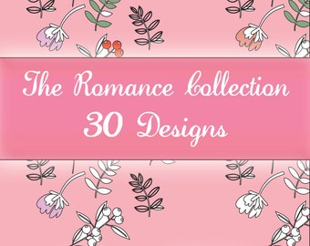 Colouring Designs - The Romance Collection