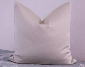 Satin pillow cover in cream, 40 x 40 cm
