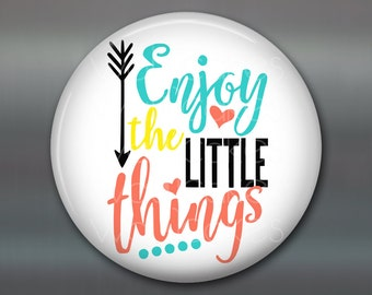 """3.5"""" round magnets with inspirational daily quotes - quotes and sayings home decor - hostess gift ideas for the the kitchen - MA-WORD-9"""