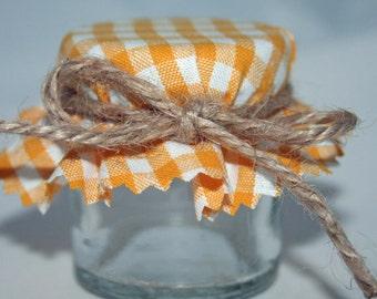 wedding favor, DIY Wedding, Buttercup Yellow, Wedding Favours, Mini Jars, Jam Jar Kit, jar and lid