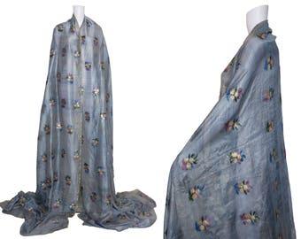 1940s Indian Lamé Sari Fabric