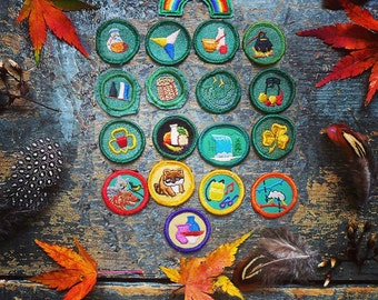 Girl Scout Badges, Sew on Patches, Merit Badge, Camping Patch, Dog, Cat, Nature, Environment, Wildlife, Animals, Scouting Patch