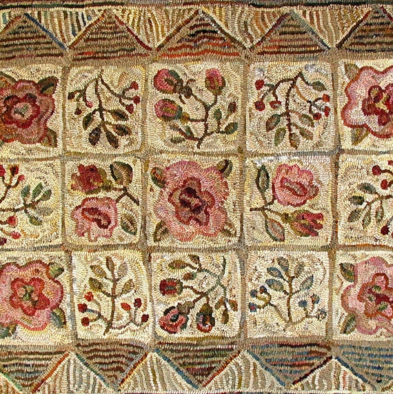 Apothecary Rose In 2 Sizes Rug Hooking Patterns