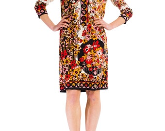 1960s Vintage Lucy in the Sky with Flowers Dress  Size: S/M