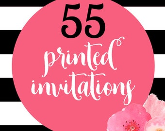 55 Printed Invitations With Envelopes