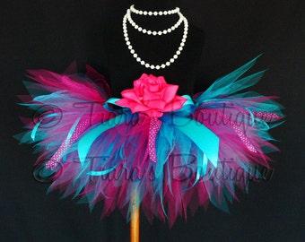 "Birthday Girl Tutu Set - Berry Surprise Tutu - Custom Sewn 11"" Infant Toddler Pixie Tutu - Featuring Ribbon Streamers - sizes Newborn to 5T"