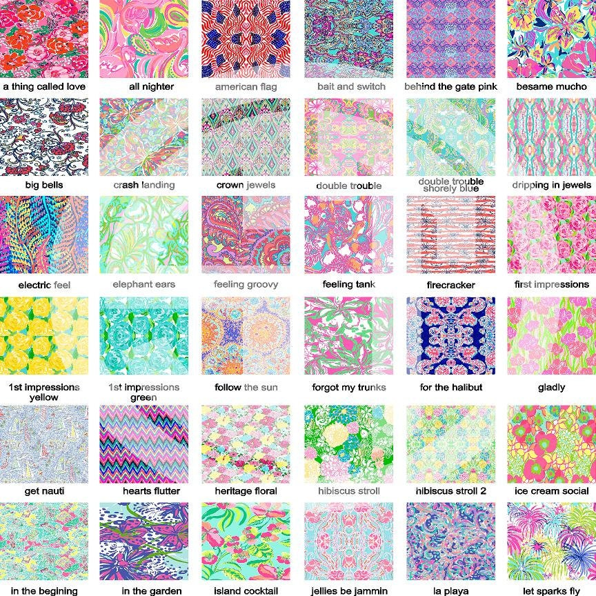 Lilly Pulitzer Printed Indoor Outdoor Glitter