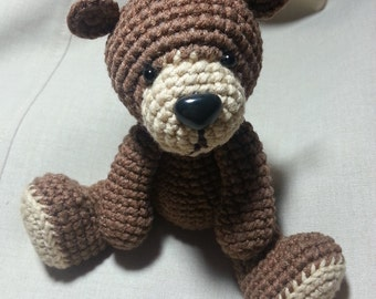 PDF Amigurumi Crochet Pattern - Cute Teddy Bear, Crochet Teddy Bear Pattern, Amigurumi Bear Pattern, Crochet Amigurumi Pattern