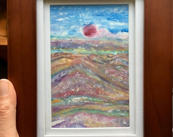 Cheyenne Sun Original Painting by Amy Drago framed and ready to hang
