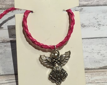 Angel necklace, angel pendant, angel gift, girls angel necklace, ladies necklace, angel charm, angel jewellery, angel jewelry, cute necklace