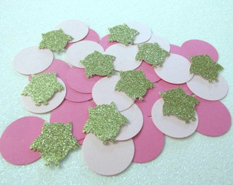 225 Pink and Gold Owl Confetti Woodlands Confetti Woodlands Baby Shower Woodlands First Birthday Girl Owl Birthday Owl Baby Shower Owl Dots
