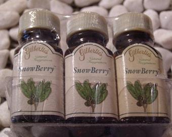 Snowberry Gilberties Natural Fragrance Oil - 6 bottles 1/4 fl oz each