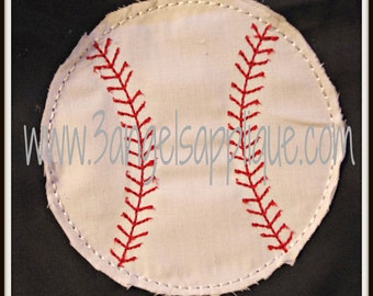 Raggy baseball or softball applique 5 sizes INSTANT DOWNLOAD