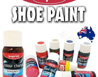 Waproo Shoe Paint + Included Brush Colour Change for  Leather & Synthetics