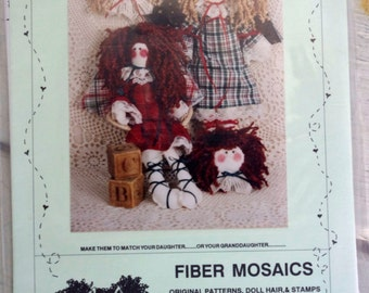 Doll Pattern Katie and Eleanor by Fiber Mosaics