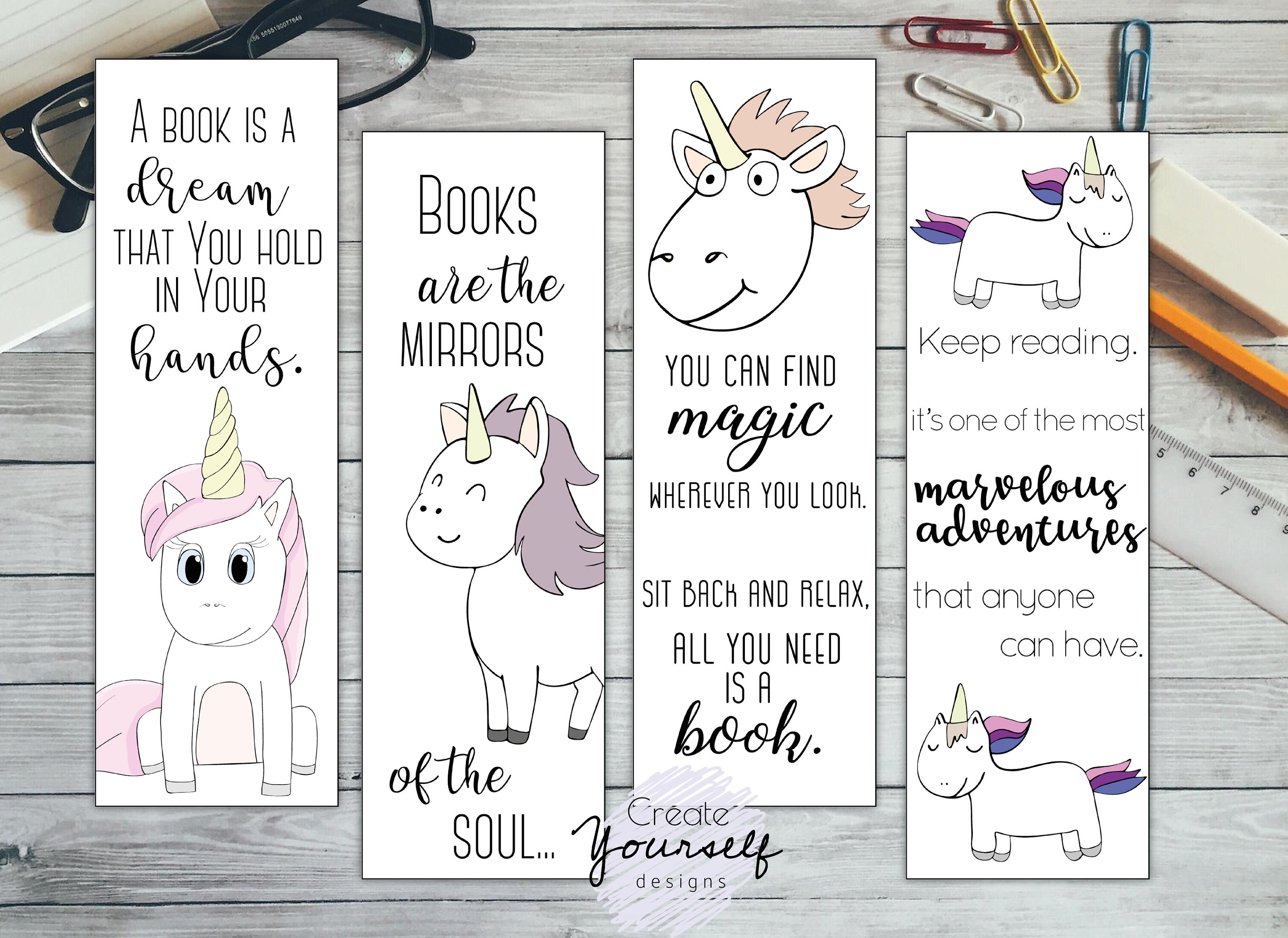 This is a picture of Nifty Print Out Bookmarks