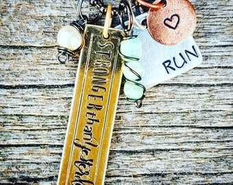 Runner Necklace, Race Necklace, Run Jewelry