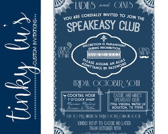 Speakeasy invite Etsy