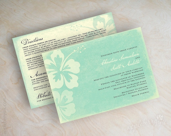Destination Wedding Invitations Etsy: Items Similar To Destination Wedding Invitation, Beach
