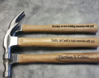 Personalized Hammer, Dad Gift , Grandfather Gift, Engraved Hammer, Father Of The Bride Gift, Anniversary Gift