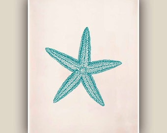 Starfish Print,  Sea Star 8x10 print,  Marine Wall Decor, Nautical art,  Seashore art  Print, Coastal Living