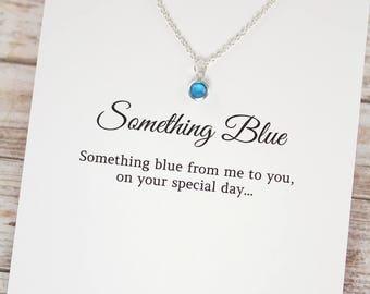 Something Blue for Bride , Something Blue Anklet Bracelet Necklace , Wedding Gift , 925 Sterling Silver
