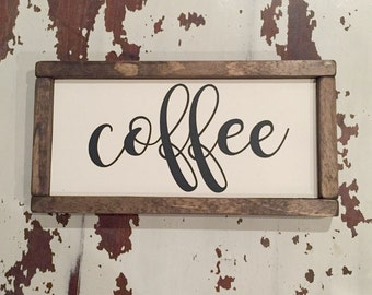 Coffee Sign | Coffee Bar Sign | Kitchen Sign | But First Coffee