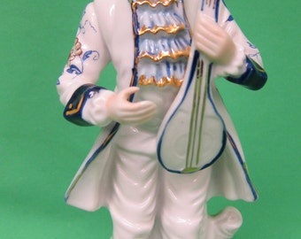 Royal California Boy with Lute Figurine