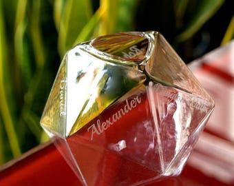 Flower Gem Vase with personalised engraving