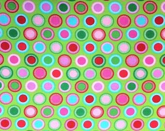 Michael Miller GARL - BUDDING (Green) 100% Premium Cotton Quilt Fabric - per 1/2 yd circles