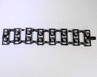 Vintage Blackened Silver Bracelet