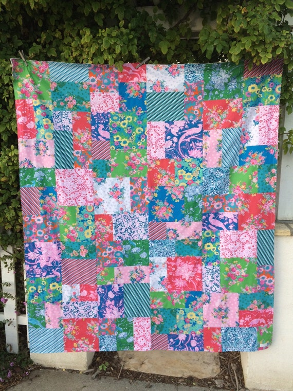 Jennifer Paganelli Hotel Frederiksted Patchwork and Minky Blanket