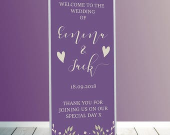 Wedding roller banners, roller banners, pull up banners,