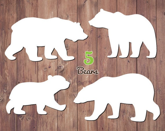 Baby Bear Clipart Woodland Mama Svg Bears