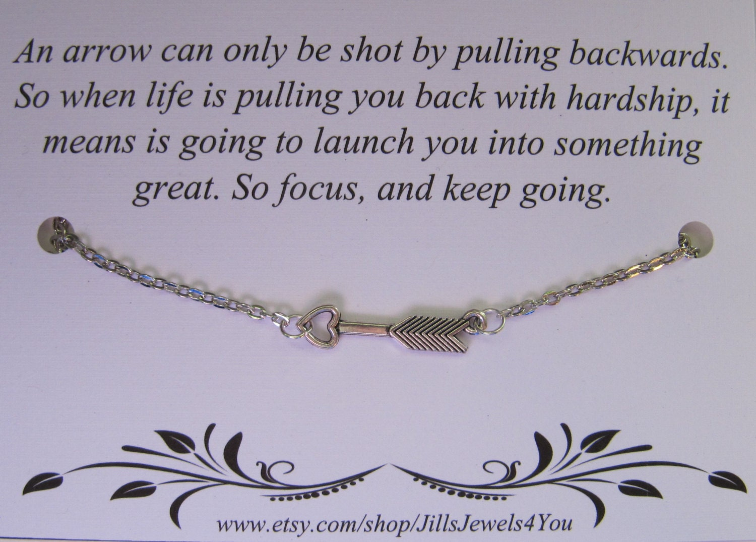 Arrow Quotes Life Arrow Necklace With Heart And Inspiratonal Quote Follow Your