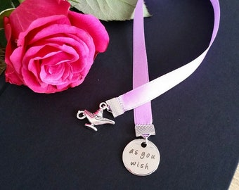 Ribbon Bookmark ' As you wish ' 1001 Night