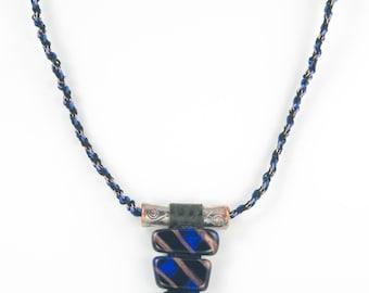 Arrowhead Glass & Kumihimo Braid Necklace