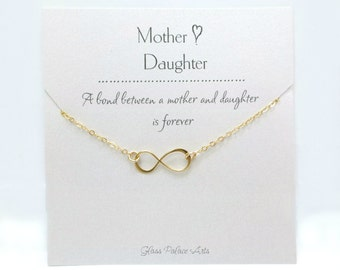 Mother Daughter Necklace, Mother in Law Gift Jewelry, Gift For Mom Wedding, Mother Daughter Jewelry, Gift For Mom From Daughter, Mom Jewelry