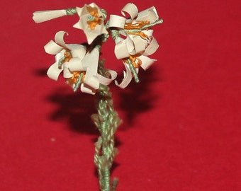Vintage Dolls House Quality Hand Made Flowers For The Garden Or Window Box KM943