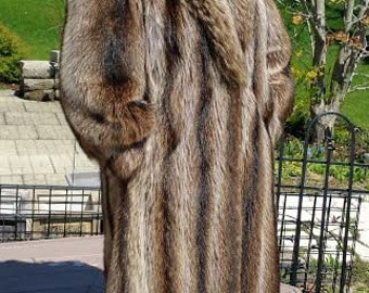 Beautiful Raccoon Fur Coat Full Length Vintage