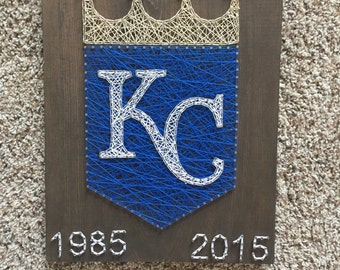Made to order Kansas City royals  string art