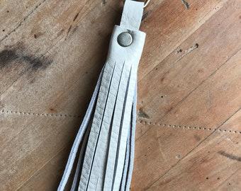 Cream Leather Tassel