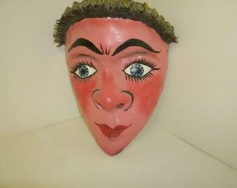 Pink-Faced Pensive Mask